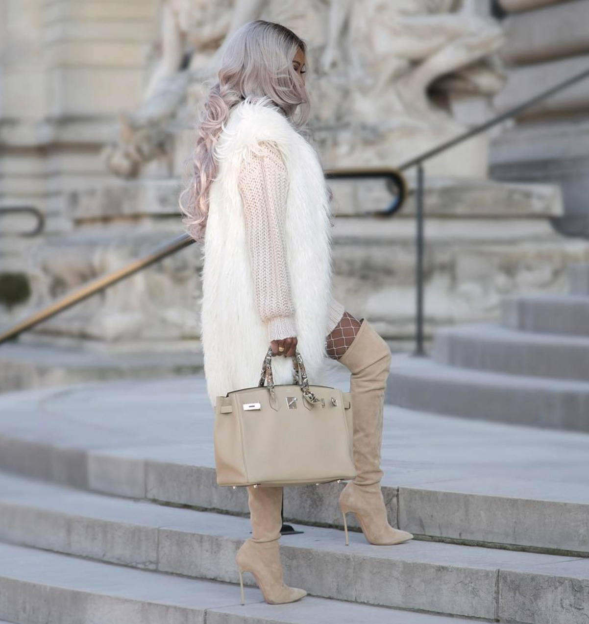 Ava Beige Suede Leather Boots (1)