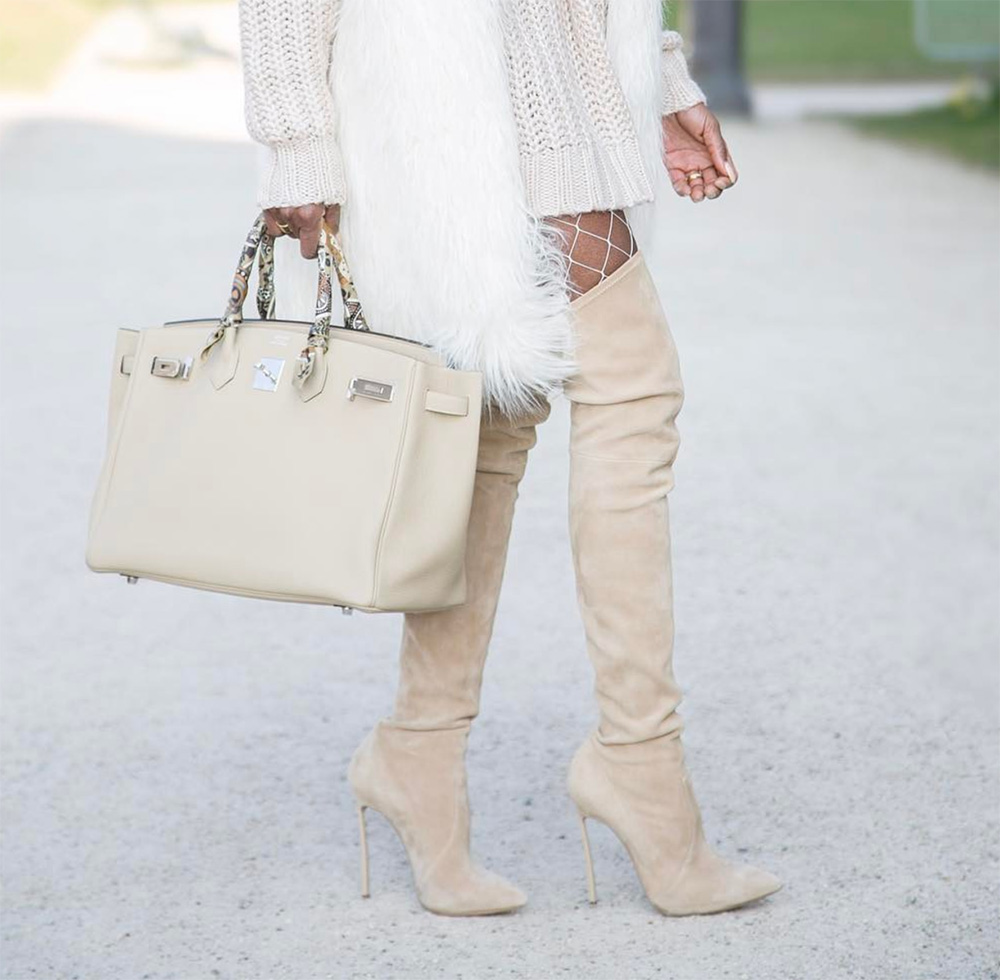 Ava Beige Suede Leather Boots