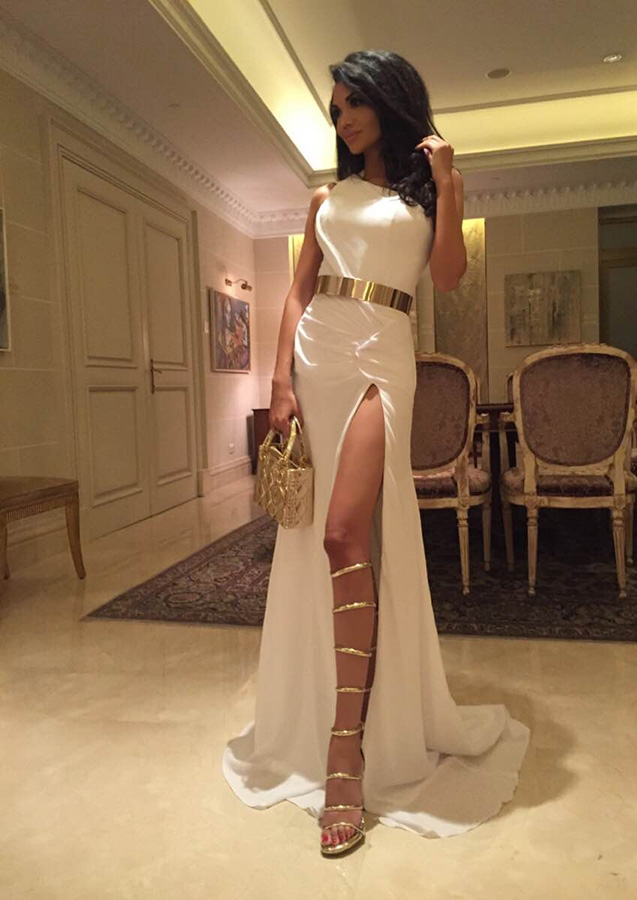 Faye Gold Strap Sandals (5)