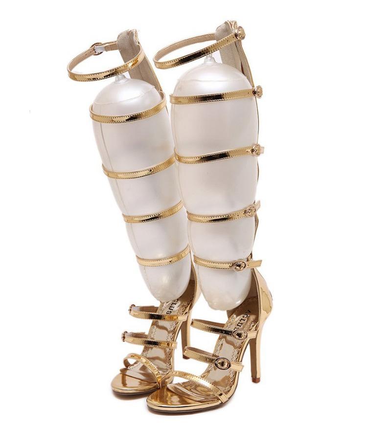 Faye Gold Strap Sandals (8)