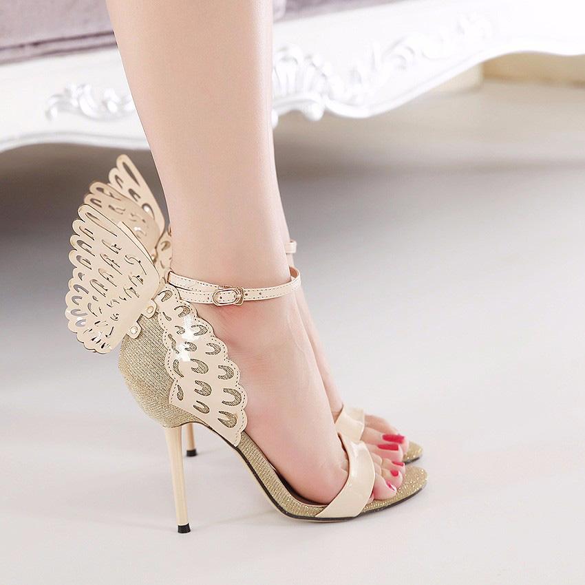 Gloria Beige Wings Sandals (1)