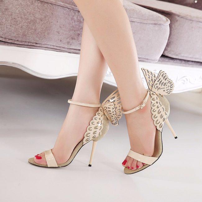 Gloria Beige Wings Sandals (2)