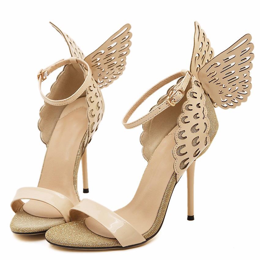 Gloria Beige Wings Sandals (3)