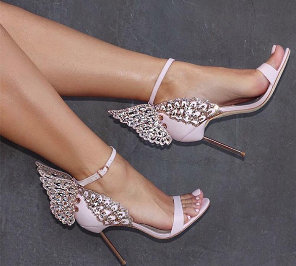 Gloria Pink Wings Sandals (1)