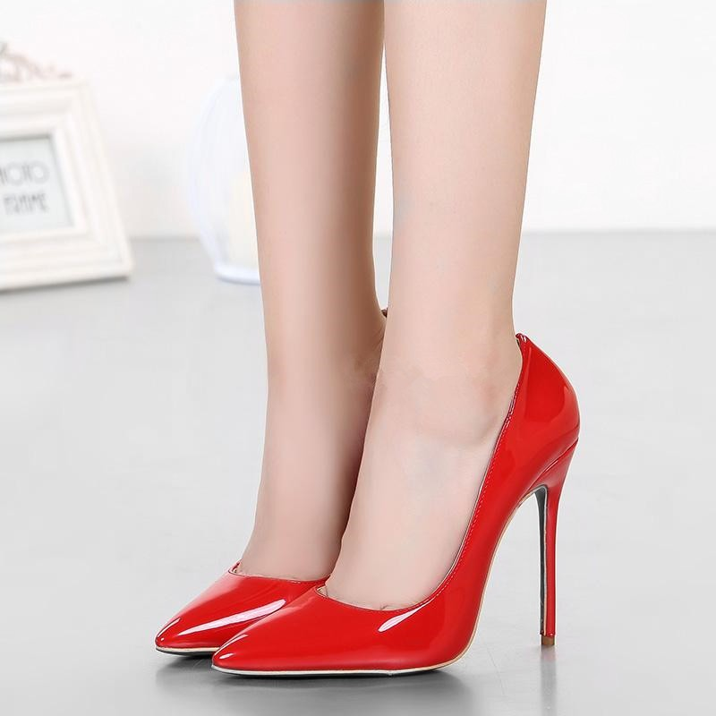 Peg Red Patent Leather Pumps (3)