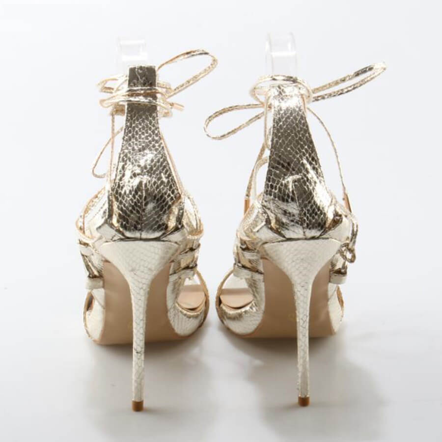Thea Gold Lace Up Sandals (3)