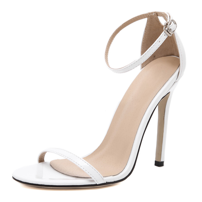 Tracy White Leather Sandals (2)