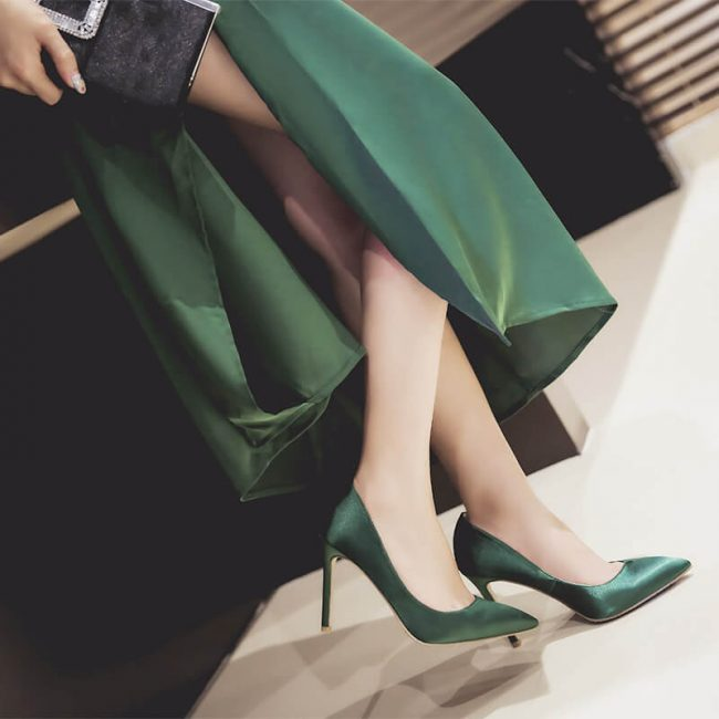 Xena-Satin-Pumps-Green (1)