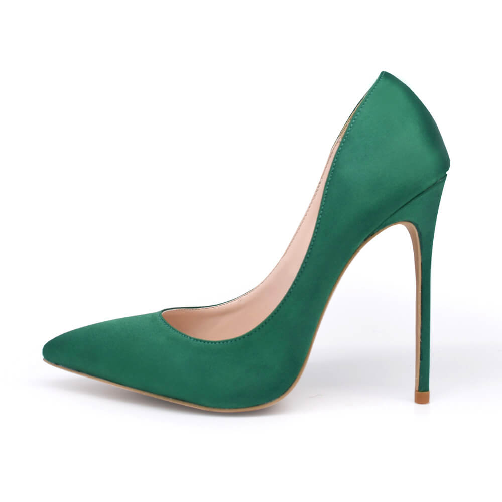 Xena-Satin-Pumps-Green (2)