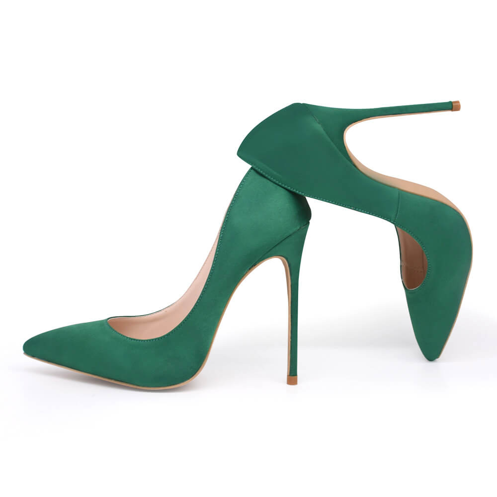 Xena-Satin-Pumps-Green (3)
