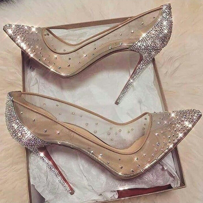 Kara See Through Sparkle Shoes The Cadence S